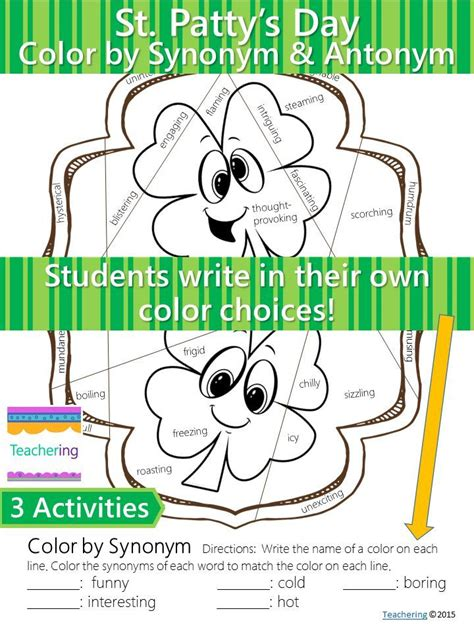 work pattern synonym 1000 images about st patrick s day language arts ideas