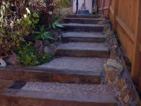 Landscape Timbers On Sale Near Me Railroad Ties As Steps A Hill Outdoor Spaces And