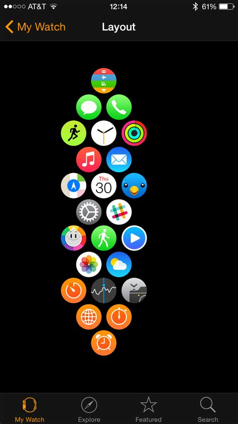 app layout apple watch the apple watch home screen is a beautiful mess