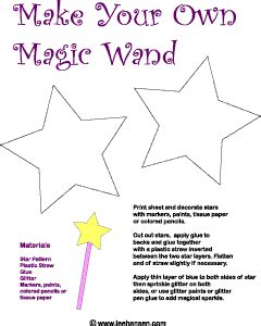 magic wand printable craft craft ideas pinterest