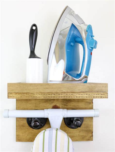 Ironing Board Rack scrap wood industrial ironing board rack pretty handy