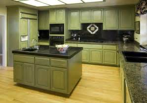 Green Kitchen Cabinets Painted by Green Painted Kitchen Cabinets Image 166 Kitchenidease Com