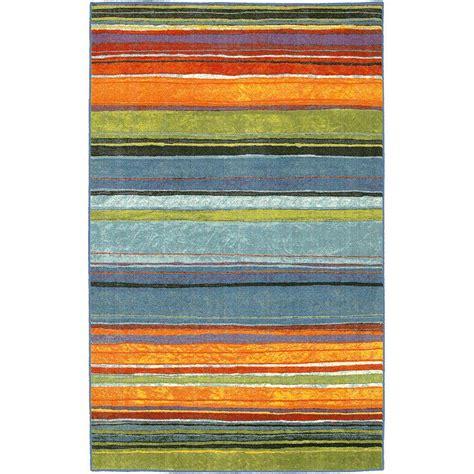mohawk home rainbow multi  ft   ft area rug