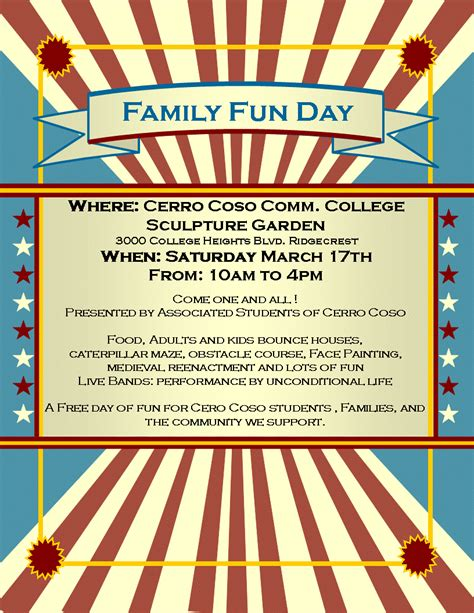 poster template 187 fun day poster template poster