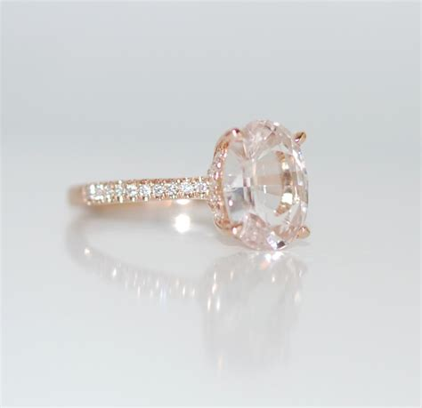 lively ring white sapphire engagement ring oval cut 14k