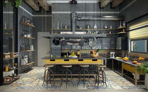 how to industrial style your home style etcetera cucine in stile industriale 25 modelli di design a cui