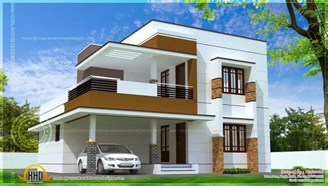 simple modern home design in 1817 square kerala