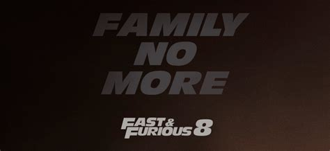 fast and furious 8 poster the family is divided on new poster for fast furious 8