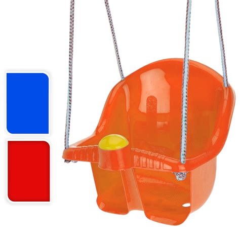 orange swing childrens plastic swing seat with rope and hook outdoor