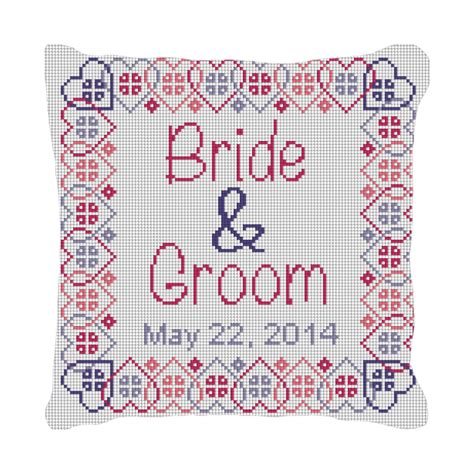 personalized ring bearer pillow needlepoint kits and