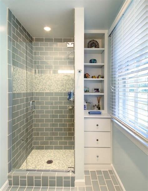 Tiny Bathrooms With Shower 35 Blue Gray Bathroom Tile Ideas And Pictures