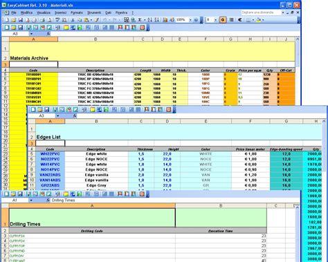 Cabinet Excel by Cabinet Cut List Spreadsheet Spreadshee Cabinet Cut