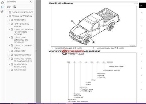 Nissan Navara D 40 Factory Service Manual Auto Repair