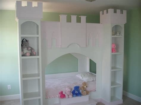 Handmade Princess Bed - castle bunk bed painted mdf and plywood