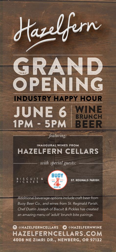 grand opening flyer  splash pageindustry  oregon wine industry