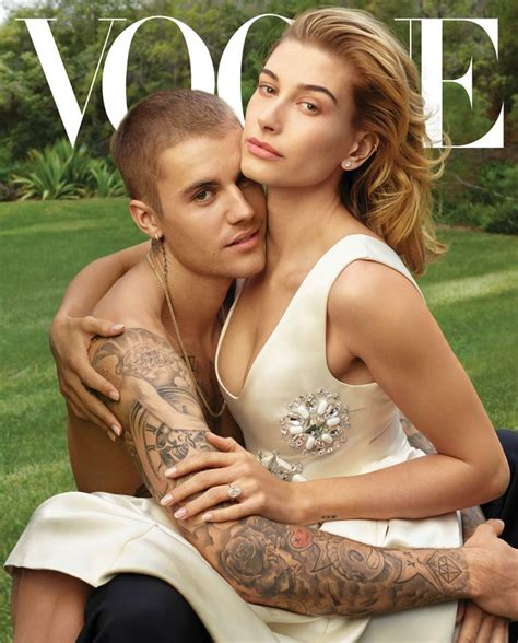 justin bieber wife hailey baldwin open   vogue