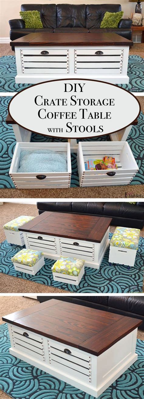 Coffee Table With Storage Stools by Best 20 Coffee Table With Stools Ideas On