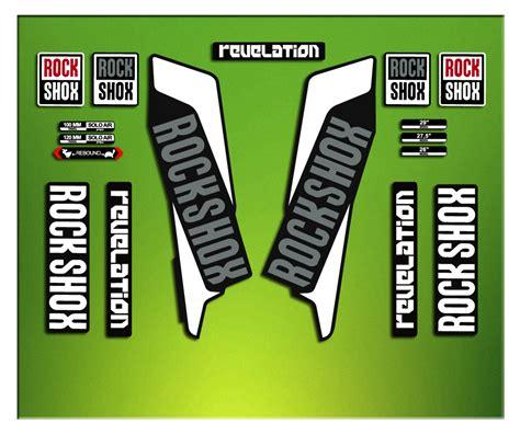 Rock Shox Aufkleber Gabel by Aufkleber Gabel Stein Rock Shox Revelation 2016 Elx41