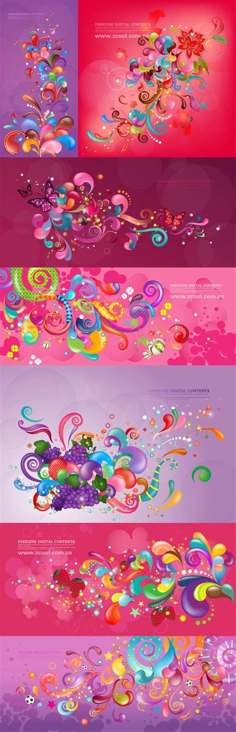 Colourful Arts Series 7 Tshirtkaosraglananak Oceanseven vector trend of colorful series purple 7p vector file 365psd