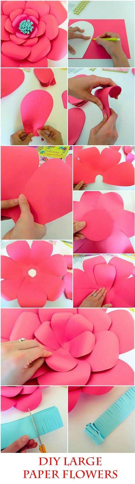 How To Make A Big Paper - 25 best ideas about paper flowers diy on diy