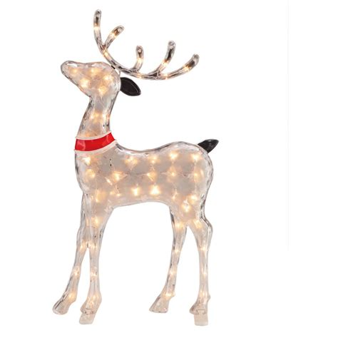 light up reindeer outdoor pre lit reindeer christmas decoration yard outdoor indoor