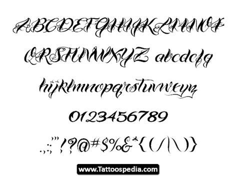 tattoo font cursive generator tattoo cursive fonts tattoospedia