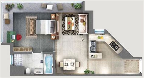 how to layout studio apartment drawings of self contained flat google search design