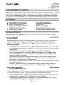 Resume Template For Accounting by Accounting Coordinator Resume Template Premium Resume Sles Exle