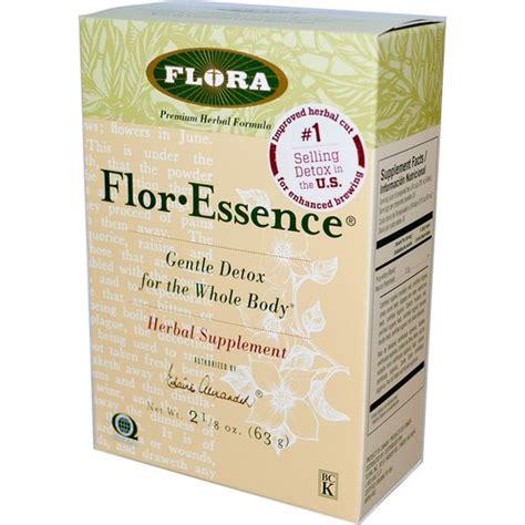 Total Tea Gentle Detox Colon Cleanse Tea by Buy Flora Flor Essence Detox Formula Herbal Tea Blend