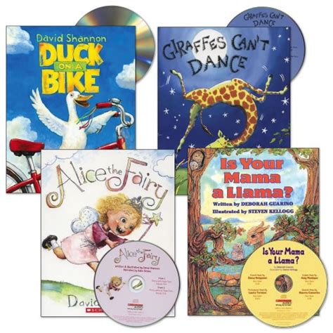 audio picture books read aloud book and cd set set of 4