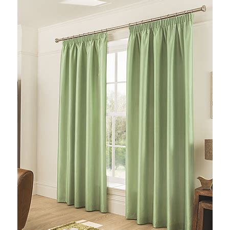 faux silk green curtains george home green faux silk pencil pleat curtains