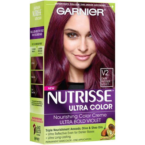 garnier foam hair color garnier nutrisse hair color violet v2
