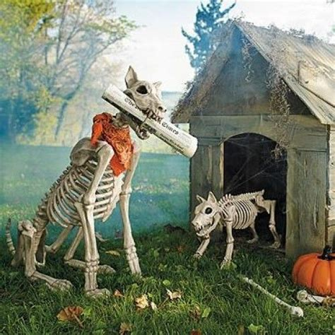 halloween themes with dogs outdoor halloween decorations skeleton dogs and haunted