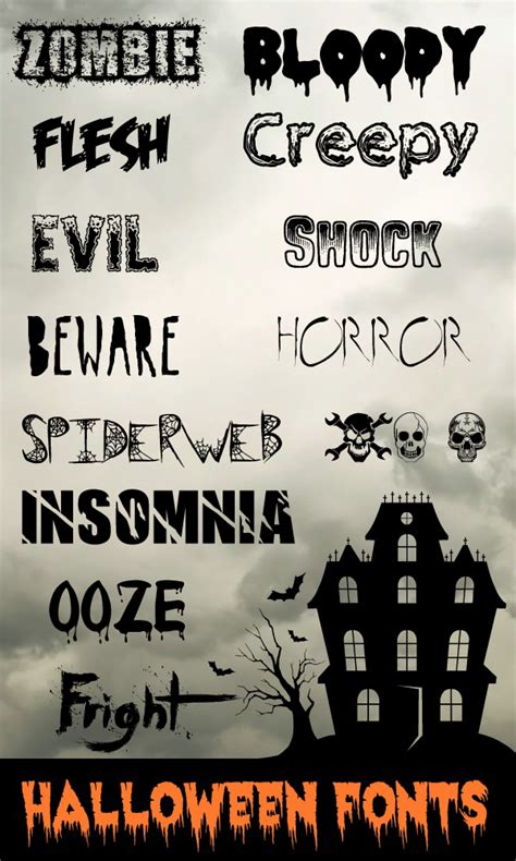 dafont halloween a collection of the best halloween fonts dingbats