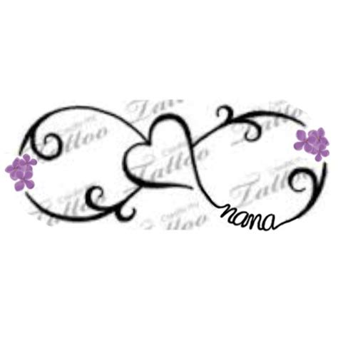 infinity zussen tattoo for our nana infinity sign with heart and her favorite