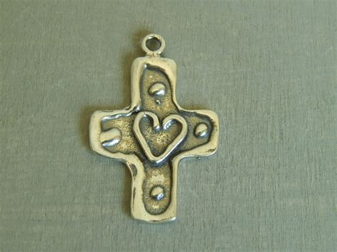 Sterling Silver Cross Pendant Religious Jewelry Supplies