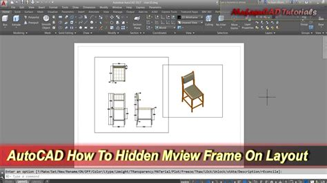 autocad layout viewport border autocad how to hidden mview frame on layout youtube