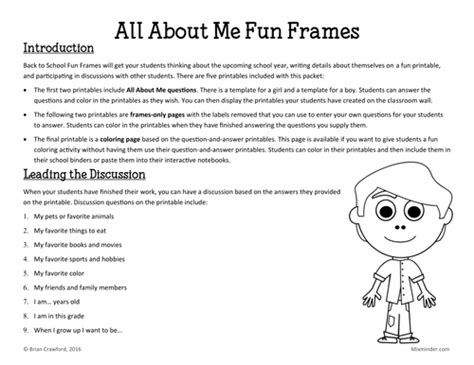 all about frames all about me by roxy xuk teaching resources
