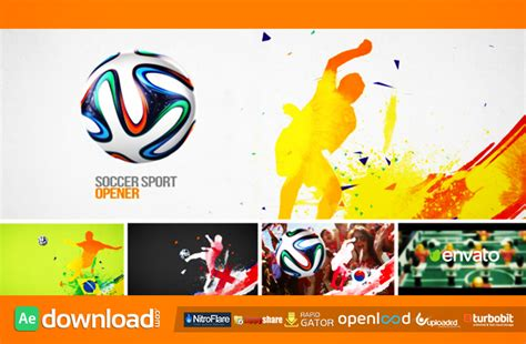 soccer sport opener after effects project videohive