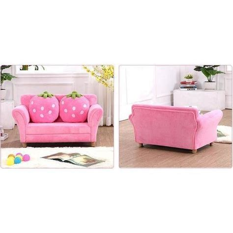 kids double sofa kids deluxe double seat strawberry sofa in pink buy kids