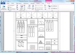 Software To Create Blueprints closet plan templates for word