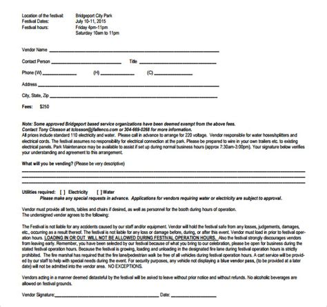 vendor agreement template contract sle vendor contract template 9 free sles