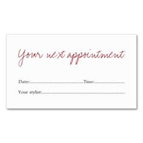 Appointment Reminder Business Card Template by 1000 Images About Business Cards Appointment On