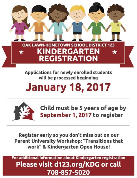Registered School - you registered your student for kindergarten oak