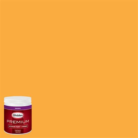 home depot paint nfl colors glidden premium 8 oz nfl 174b kansas city chiefs gold