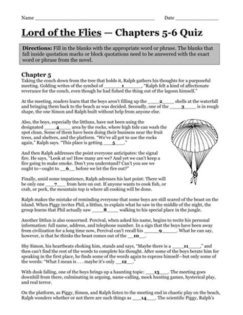 symbols in lord of the flies chapter 5 lord of the flies chapter 5 by uk teaching resources tes