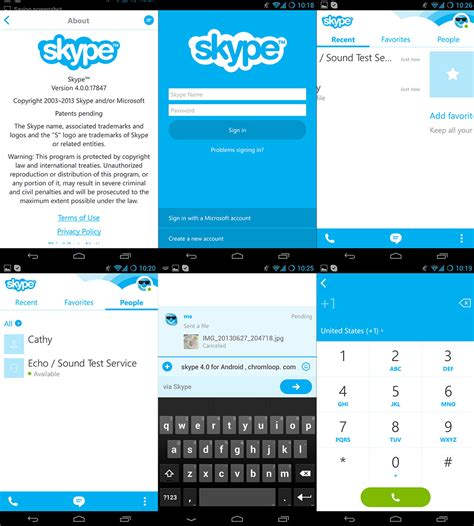 skype for android skype 4 0 for android review new style optimized for im