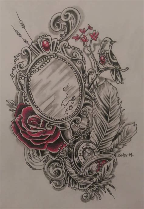 vintage rose tattoo designs 25 mirror air balloon sleeve