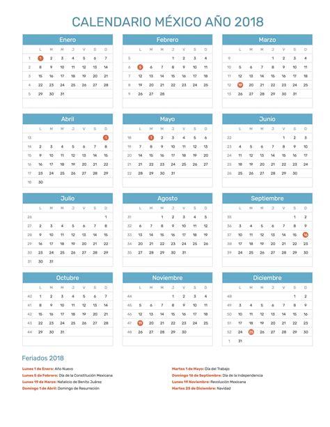 Calendario 2018 Mexico Para Imprimir Calendario M 233 Xico A 241 O 2018 Feriados