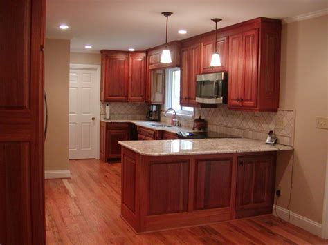 red cherry kitchen cabinets magnificent cherry red mahogany cabinets with white